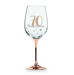 Wine Glass Rose Gold 70