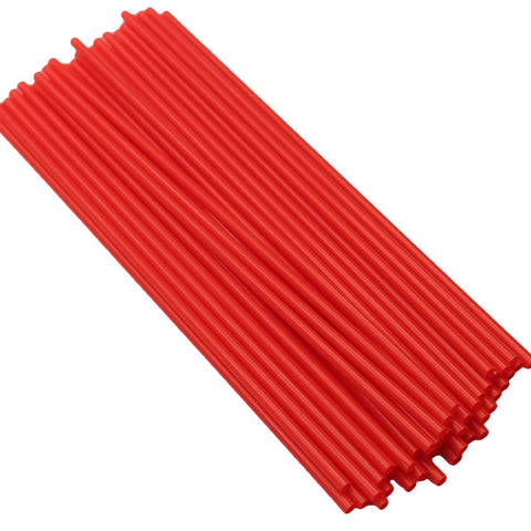 Plastic Drinking Straws Red
