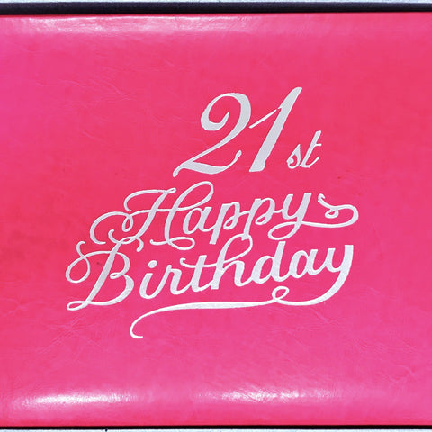 Guest Book 21st Hot Pink/Silver in Box