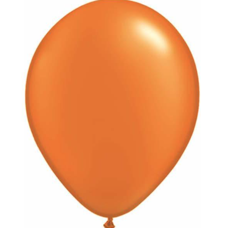 Pearl Mandarin Orange Latex Balloons Pack of 25