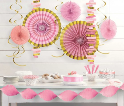 Feature Wall Decorating Kit Pink/Gold