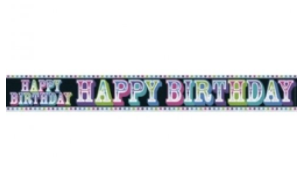 Foil Banner Happy Birthday Rainbow