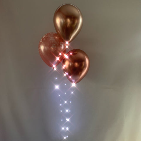 Light-up L.E.D. 3-Balloon Bouquet