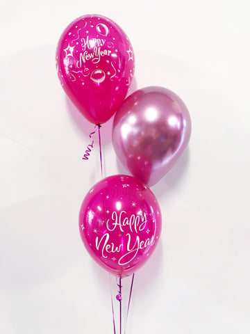 New Years Eve Bouquet of 3 Balloons