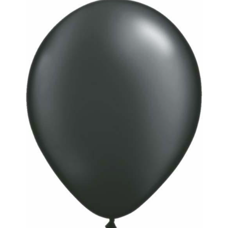Pearl Onyx Black Latex Balloons Pack of 25