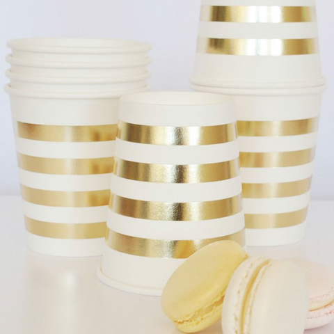 Gold Stripes Cup - Pack of 10