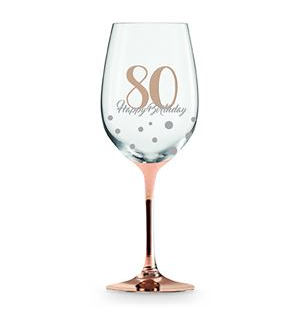 Wine Glass Rose Gold 80