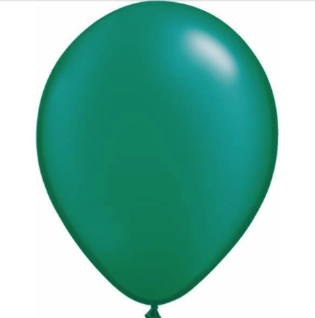Pearl Emerald Green Latex Balloons Pack of 25