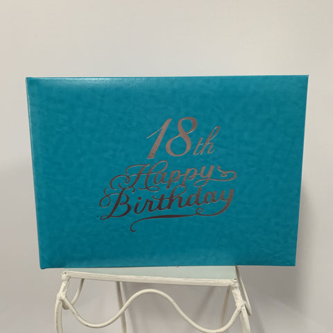 Guest Book 18th Teal/Silver in Box