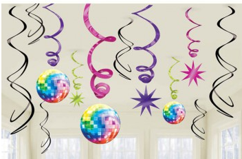 Disco Fever Swirl Decorations