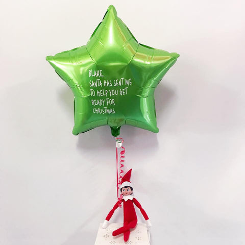 Elf on the Shelf Custom Message Balloon