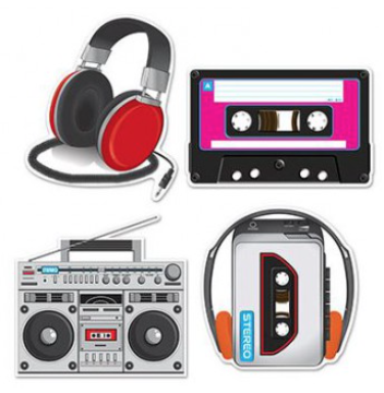 Cassette Player & Headphones Cutouts