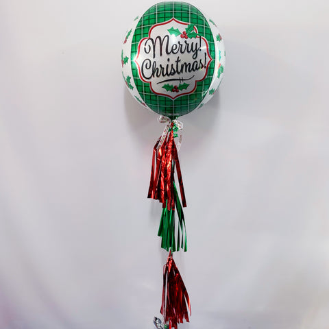 Merry Christmas Orb with Tassels