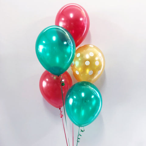 Christmas Bouquet of 5 Balloons