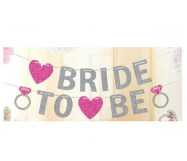 Bride To Be Glitter Letter Banner