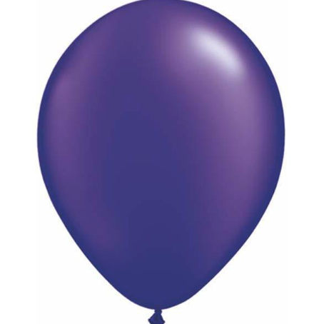 Pearl Quartz Purple Latex Balloons Pack of 25