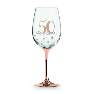 Wine Glass Rose Gold 50