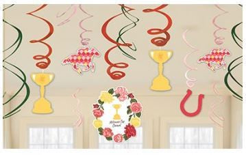 Melbourne Cup Swirl Decorations