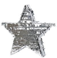 Pinata Metallic Silver Star