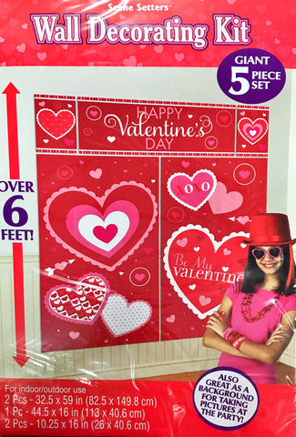 Wall Decorating Kit Happy Valentines Day