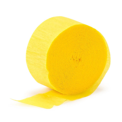Crepe Streamer Yellow