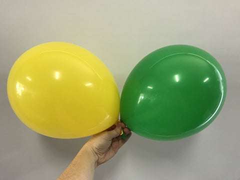 Green and Yellow Latex Balloons