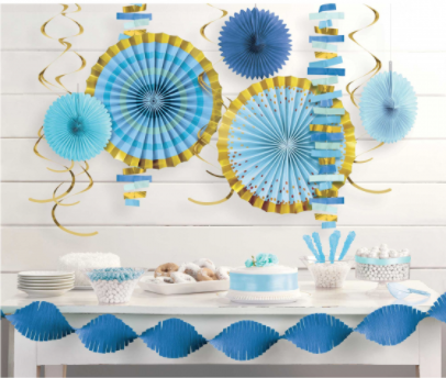 Feature Wall Decorating Kit Blue/Gold