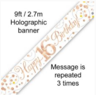 Banner Sparkling Fizz Rose Gold 16th