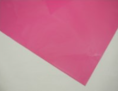 Cellophane Sheet Solid Colour Hot Pink