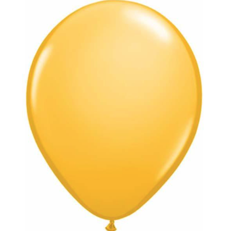 Fashion Goldenrod Latex Balloons Pack of 25