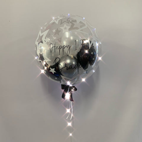 Light-up L.E.D. Gumball Balloon with Custom Text