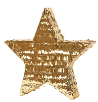 Pinata Metallic Gold Star