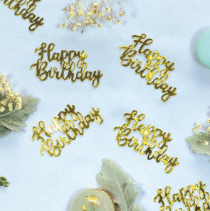 Confetti Jumbo Happy Birthday Gold