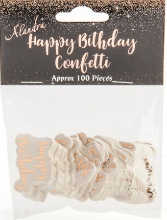 Confetti Jumbo Happy Birthday Rose Gold and White