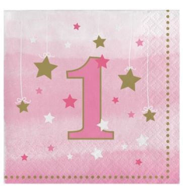 One Little Star Girl Beverage Napkins
