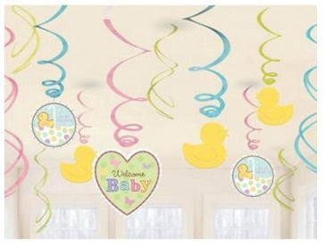 Baby Shower Swirl Decorations Gender Neutral