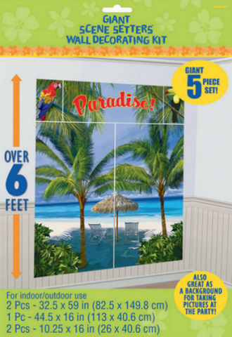 SCENE SETTER WALL DECORATIONS KIT PALM TREES