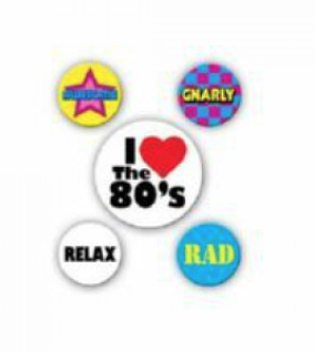 80's Party Pins/Buttons