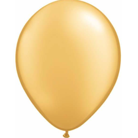Pearl Gold Latex Balloons Pack of 25