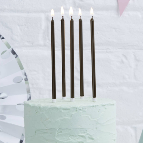 Tall Cake Candles Black