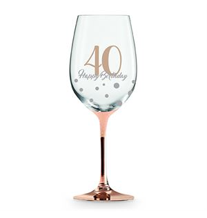 Wine Glass Rose Gold 40