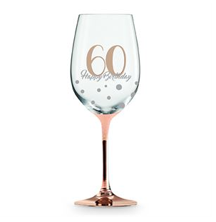 Wine Glass Rose Gold 60