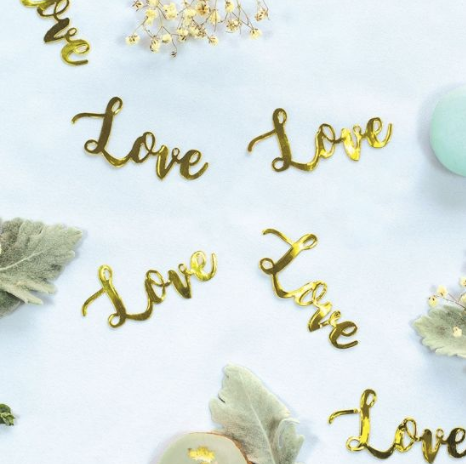 Confetti Jumbo LOVE Gold
