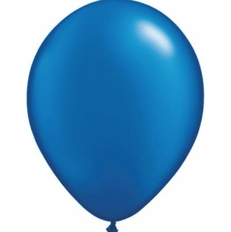 Pearl Sapphire Blue Latex Balloons Pack of 25