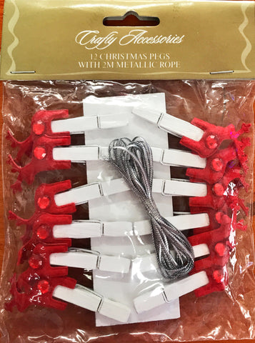 Crafty Accessories - Reindeer Pegs