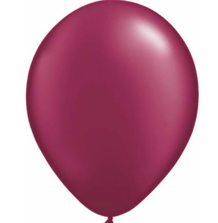 Pearl Burgundy Latex Balloons Pack of 25