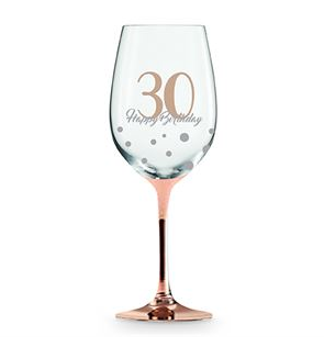 Wine Glass Rose Gold 30