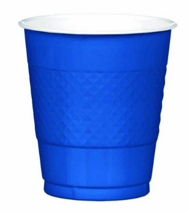 Plastic Cup Extra Large Royal Blue 355ml
