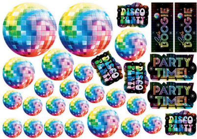 Disco Party Cutouts Value Pack