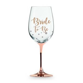 Wine Glass Rose Gold Bride To Be